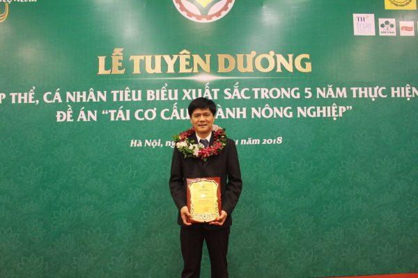 """Nafoods vinh dự đón nhận giải thưởng: """"Doanh nghiệp vì nhà nông"""""""