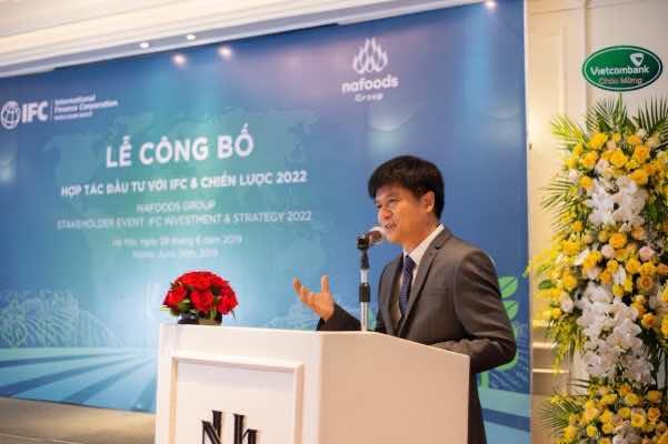Ông Nguyễn Mạnh Hùng phát biểu tại lễ công bố hợp tác đầu tư với IFC và chiến lược 2022;