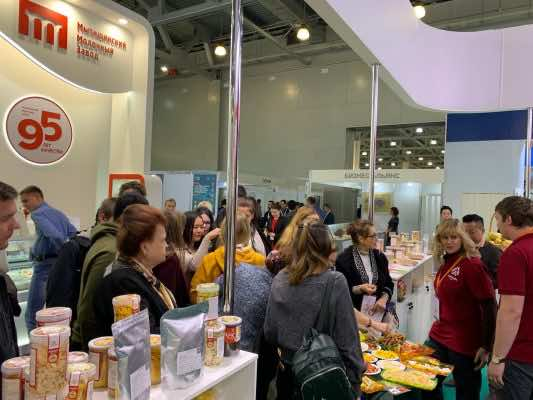 Nafoods booth at World Trade Moscow 2019