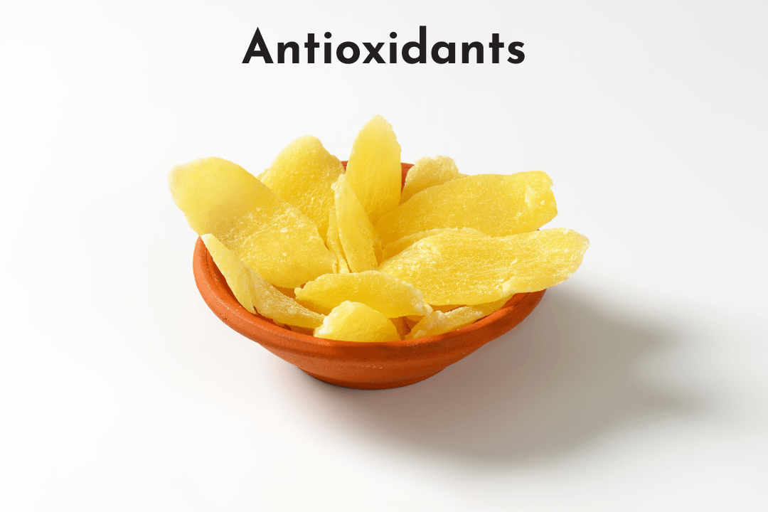 Pineapples also provide healthy antioxidants