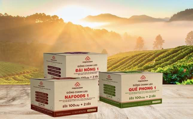 Ba giống chanh leo thương hiệu Nafoods được bảo hộ năm 2019